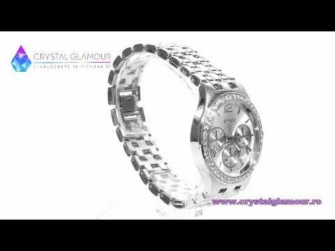 CRYSTALGLAMOUR.RO - Ceas de dama Jessy Simple cu cristale Swarovski