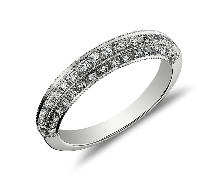 Heirloom Pavé Diamond Ring in 18k White Gold - not exactly like mine