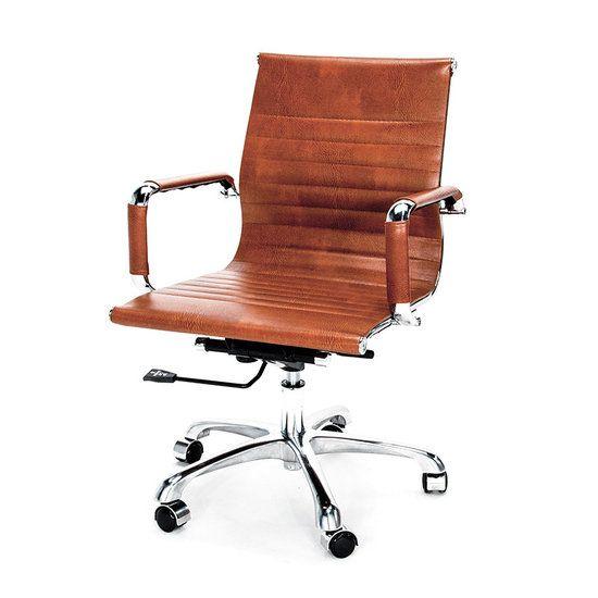 Bureaustoel DOC vintage bruin design is een super design bureaustoel-Meubelen Online heeft een grote collectie betaalbare design meubelen.
