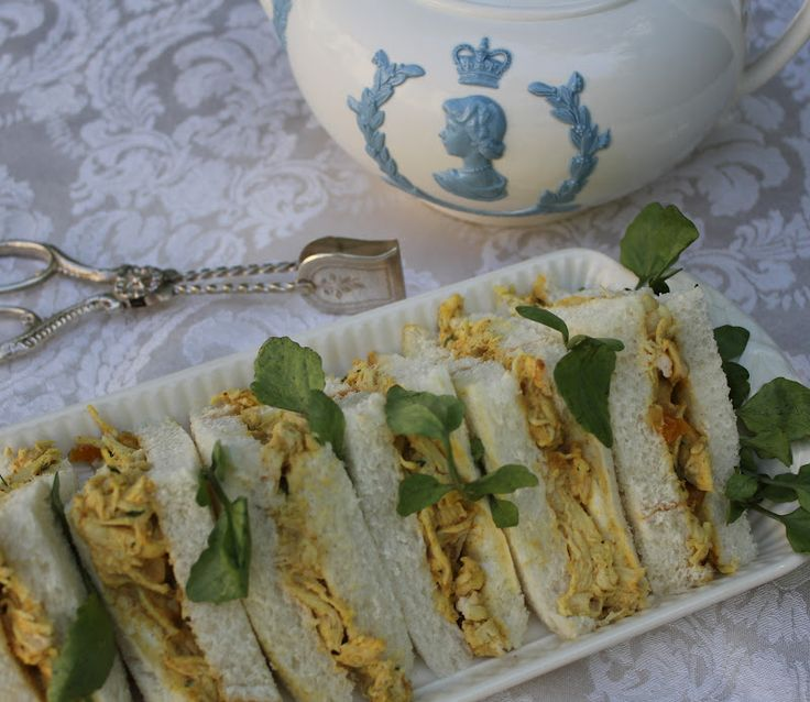 Coronation Chicken Sandwiches. Coronation Chicken was invented for the coronation of Queen Elizabeth II in 1953. http://www.aboutbritain.com