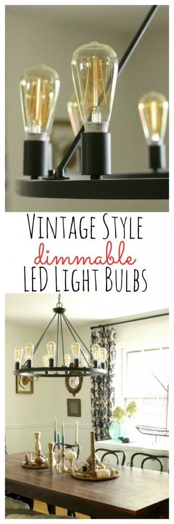 Vintage Style Dimmable LED Light Bulbs- perfect for style and function and electric bill