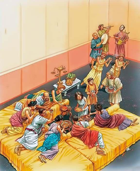 """""""Roman banquet"""", Peter Dennis"""