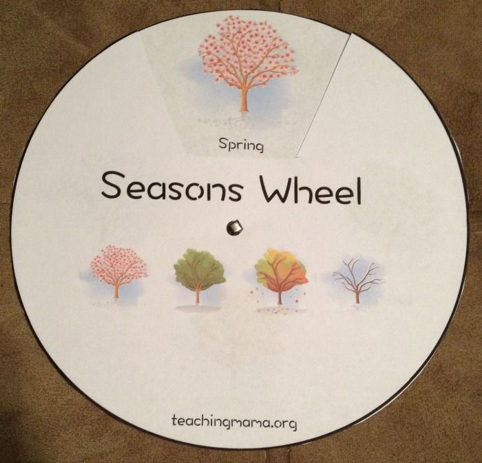 Free Seasons Wheel from Teaching Mama