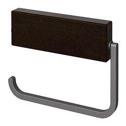 "HJÄLMAREN toilet roll holder, black-brown stain Width: 6 ¾ "" Depth: ¾ "" Height: 5 "" Width: 17 cm Depth: 2 cm Height: 13 cm"