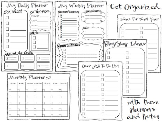 Free Planner and To Do List Printables