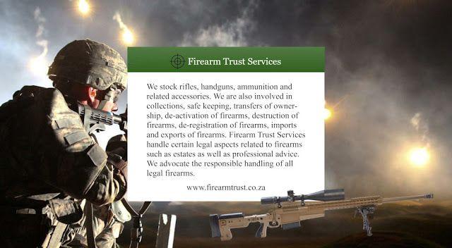 New Dimensions: Firearms Specialsts - Glock Firearms. Their website is at https://www.firearmtrust.co.za/