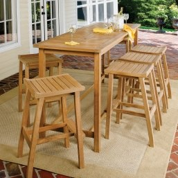Bar Height Patio Dining Set   Seats 6   Pub Table Sets At Hayneedle Table +  6 Chairs (no Backs)