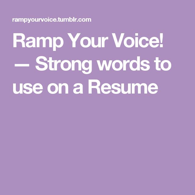1000 ideas about resume words on templates