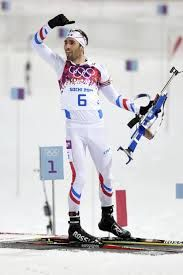 Martin Fourcade won gold in Men's Pursuit with such great style and humility. Love biathalon, love Martin too!