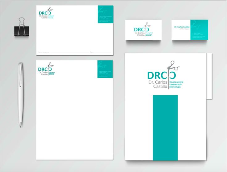 Diseño de papelería para doctores y médicos
