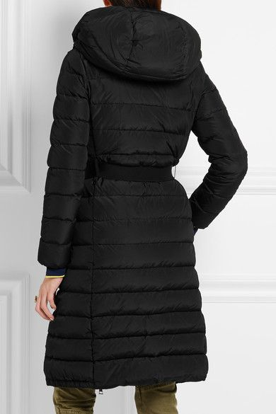 Moncler - Imin Belted Quilted Shell Down Coat - Black - 5