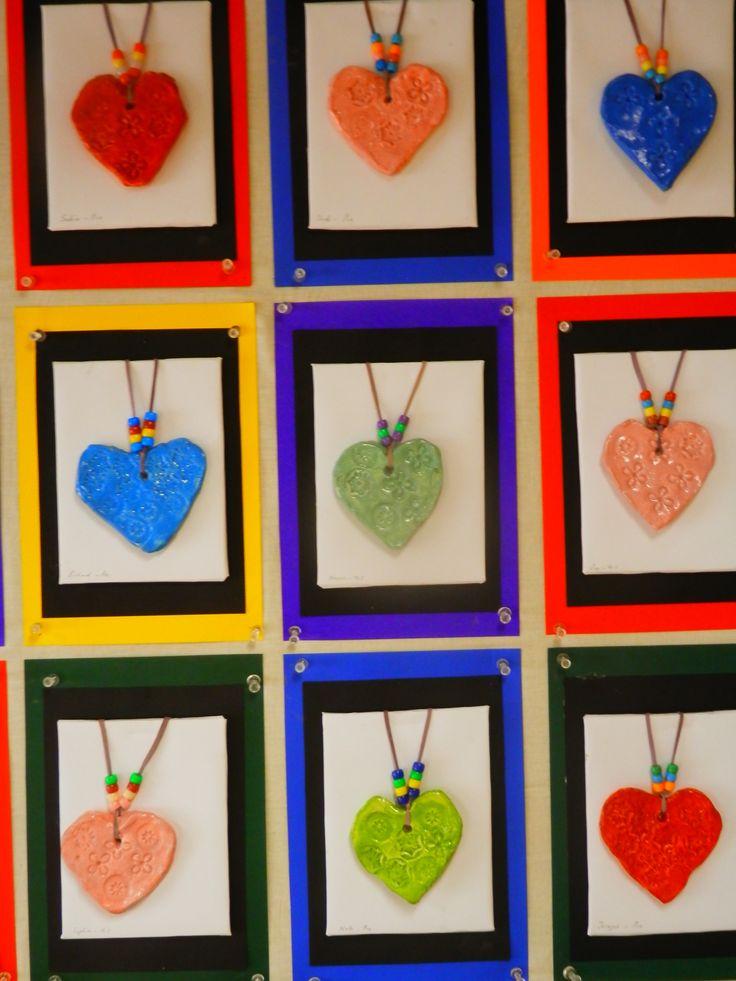Ceramic necklaces. Pre Primary