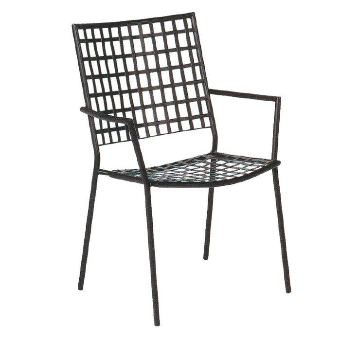 Castello garden armchair steel black