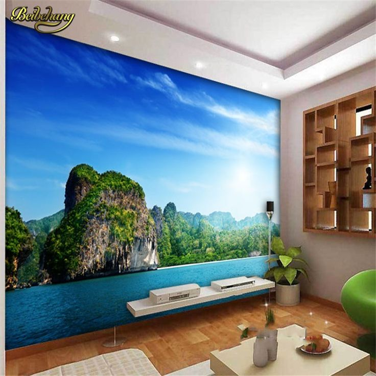 beibehang Large modern simple personality 3D fresh green living room sofa background wall landscape stereo bedroom wallpaper  #Affiliate
