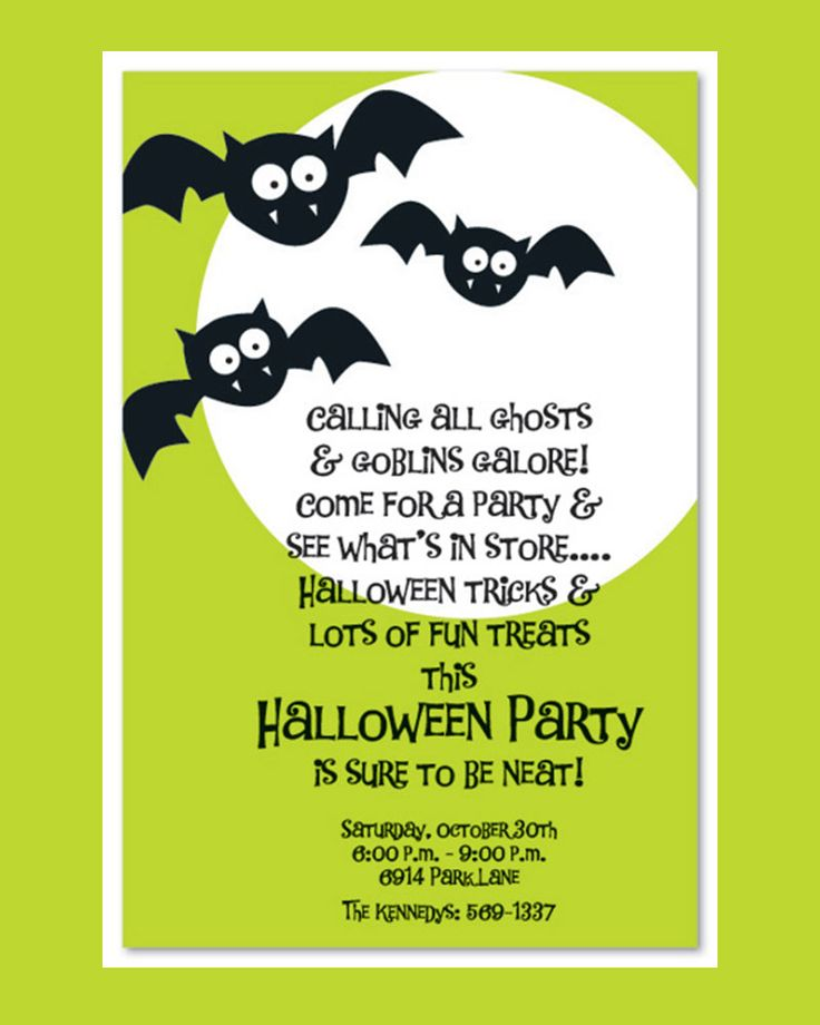 Best Seasonal Invitations Images On   Halloween Party