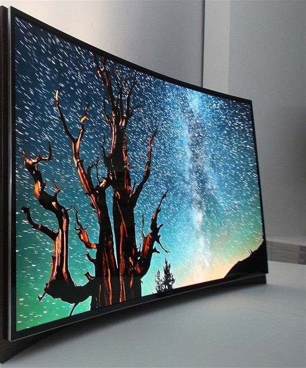 Samsung unveils the world's first curved OLED Screen