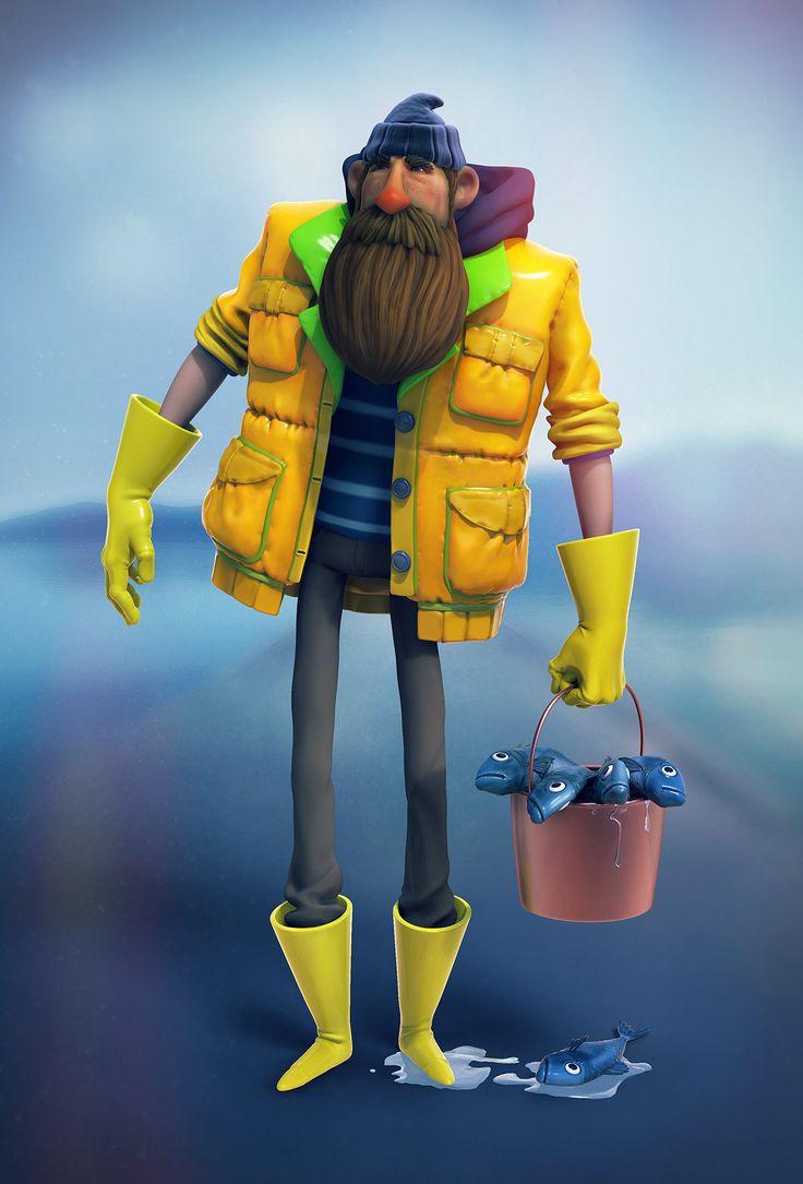 ArtStation - Fisherman, Nick Gunn
