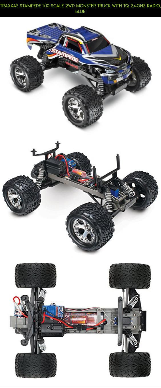 Traxxas Stampede 1/10 Scale 2WD Monster Truck with TQ 2.4GHz Radio, Blue #drone #technology #camera #bigfoot #racing #shopping #traxxas #gadgets #fpv #products #parts #plans #kit #tech