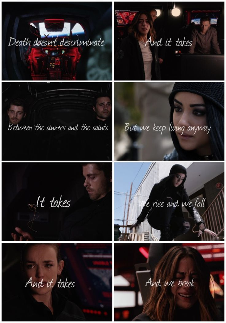 Agents Of Shield — Death doesn't discriminate between the sinners and...