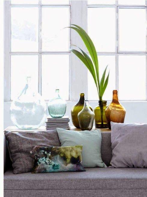 Vases en verre Collection 2014 House Doctor via Nat et nature