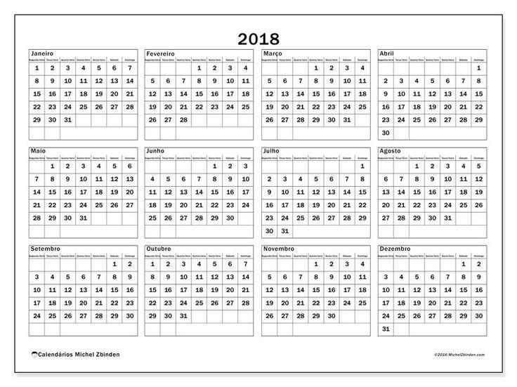 25 melhores ideias de calend rio 2018 para imprimir no for Calendario lunar de hoy