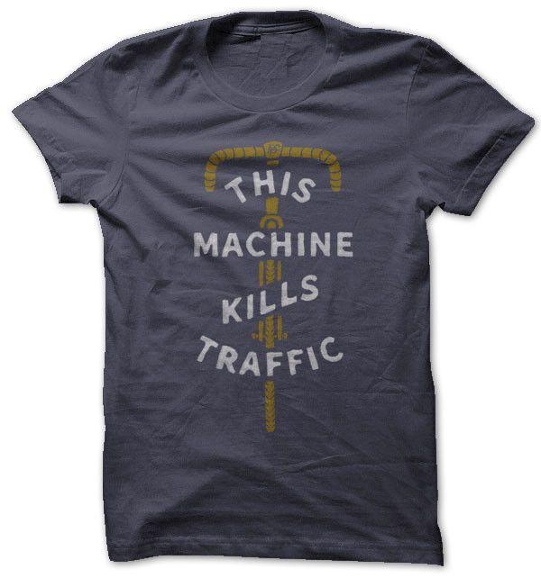 kills traffic commuter bicycle t-shirt