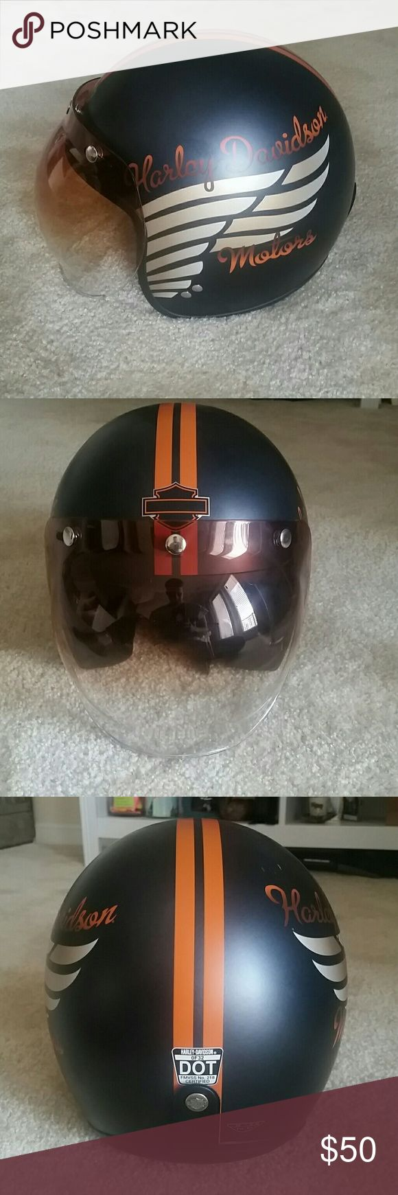 Very lightly used Harley Davidson helmet Like new with a few small marks. Comes with bubble shield also which is like new. Harley-Davidson Other