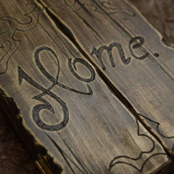 Triptic 'Home'- handmade with love by Gemini Atelier