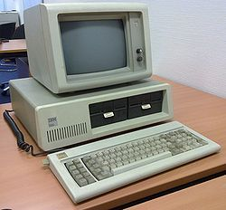 Ibm pc. I bought one of thes in 1984. Cost me over $6000. It had 256K RAM and 2 disk drives. No hard drive.