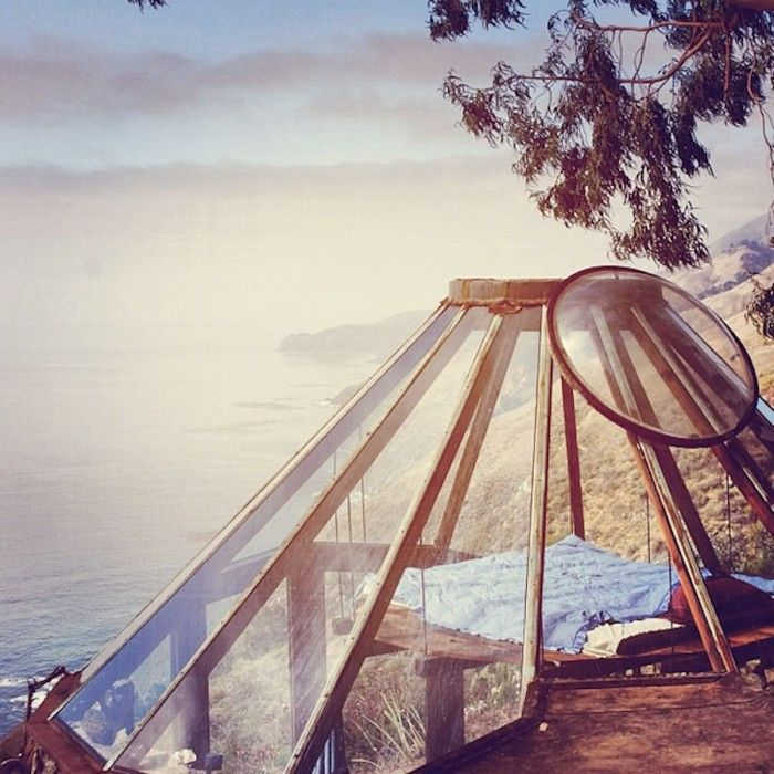 Glass Dome Roof with View Over Pacific Ocean in Big Sur You want to explore or travel to Vietnam: http://dulichnhatrang24h.com