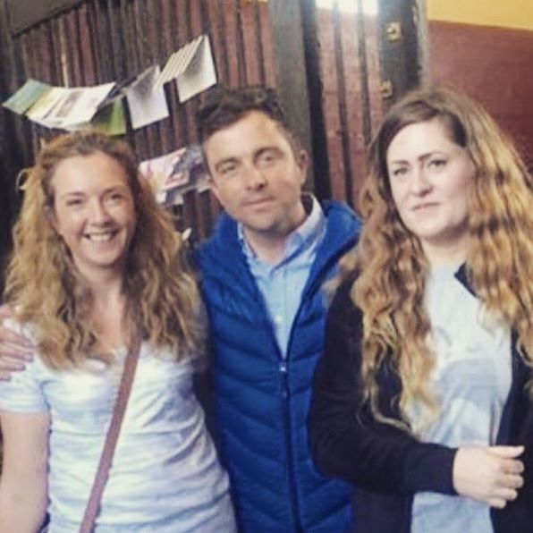 A #Badminton to remember for our competition winners Lyndsey & Alison lucky enough to meet @BenHobday at the stables