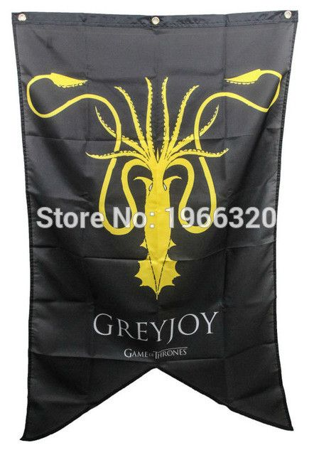 Attention Game of Thrones fans! Add this in your collection   Game of Thrones  ...  Get it now at  http://www.kingslandingmarket.com/products/game-of-thrones-house-greyjoy-banner-flag