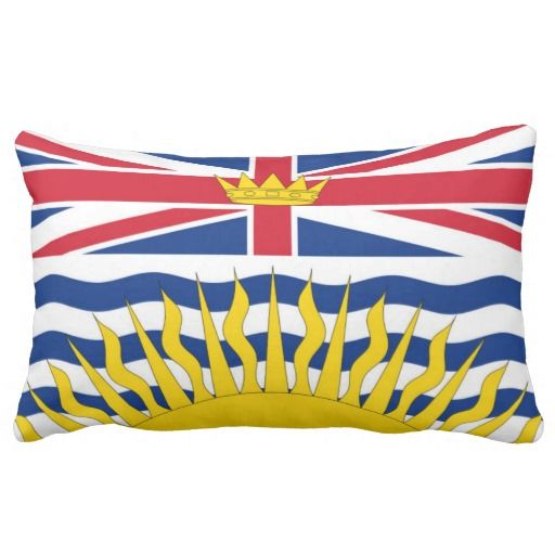 Provincial Flag Of #BritishColumbia Pillow