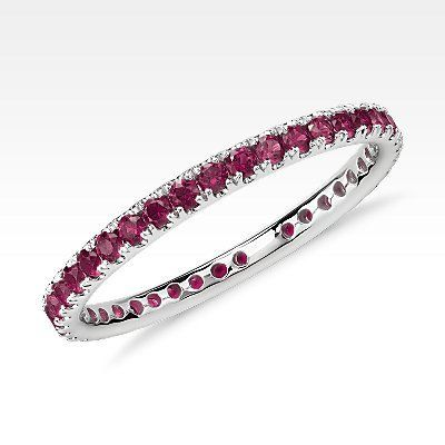 1000  ideas about Ruby Eternity Ring on Pinterest | Diamond eternity rings, Garnet rings and Eternity rings