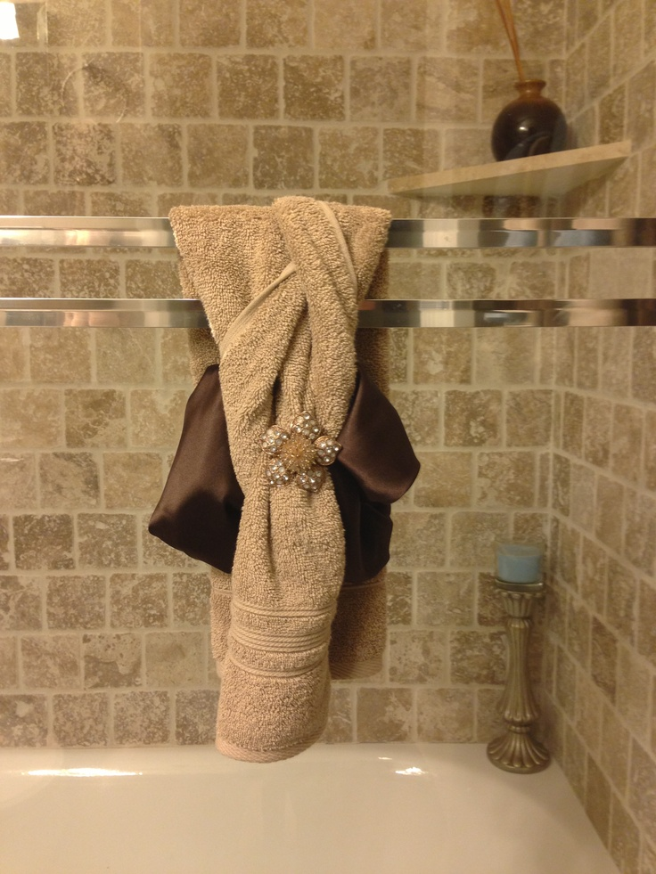20 Best Images About Bathroom Towel Decor On Pinterest