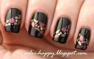 metallic dots: Nails Art, China Glaze, Sally Hansen, Polka Dots Nails, Hansen Xtreme, Art Challenges, Hard Candy, Colors Happy, Nail Art