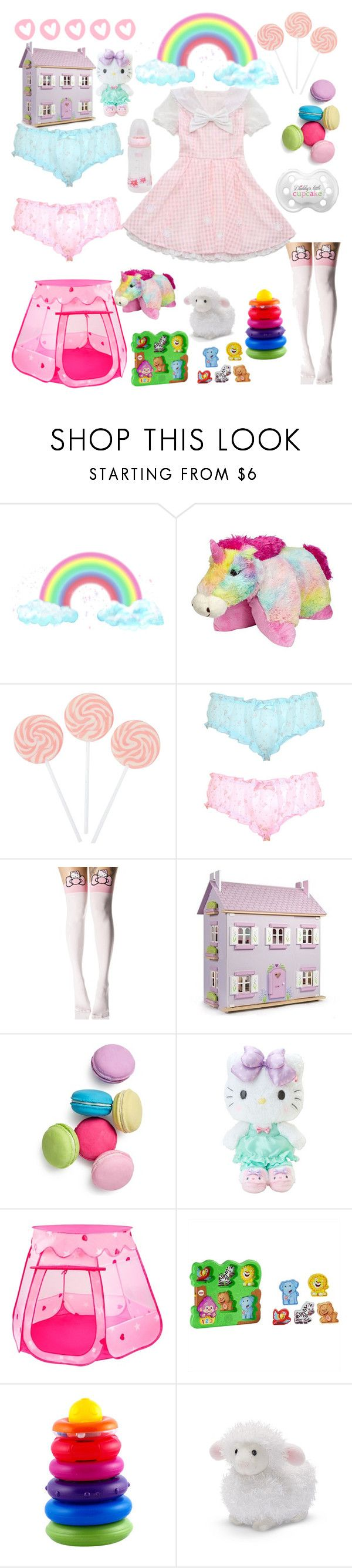"""""""Fun :)"""" by rinnalin ❤ liked on Polyvore featuring Playtex, Leg Avenue, Le Toy Van, Two's Company, Hello Kitty and Gund"""