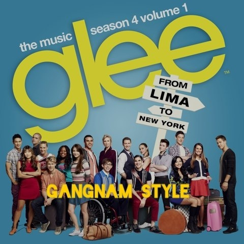 "-- #LyricArt for ""Gangnam Style (Glee Cast Version)"" by Glee Cast"