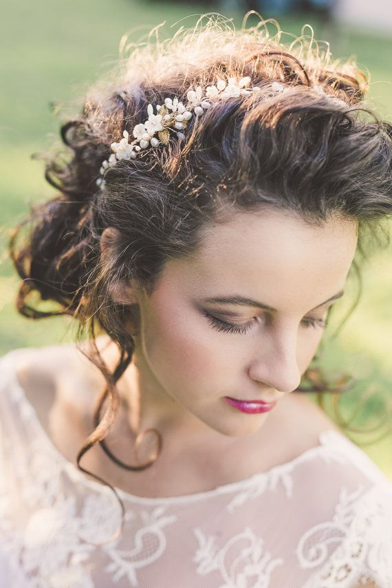 Bruids zendspoel bruiloft haar wijnstok bruids hoofdband