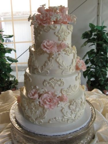 Beautiful Victorian wedding cake.