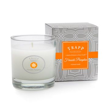 *NEW* Fireside Pumpkin - 7 oz. Poured Candle,          Fragrance Notes: New England Pumpkin - Smoky Pumpkin Spices - Glowing Embers #trappcandles Find at a Trapp retailer near you www.trappcandles.com