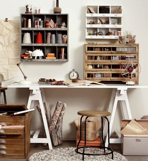 Craft Room Storage and Work Space Ideas 500 x 544