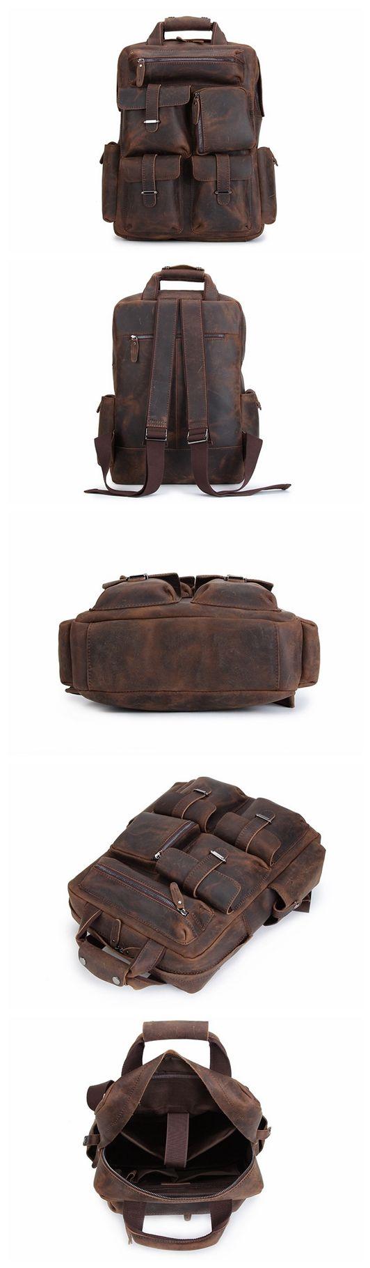 Handmade Vintage Leather Backpack, Travel Backpack