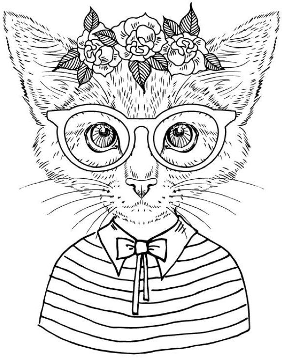 Cool Coloring Books Cat Coloring Book Cat Coloring Page Animal Coloring Pages
