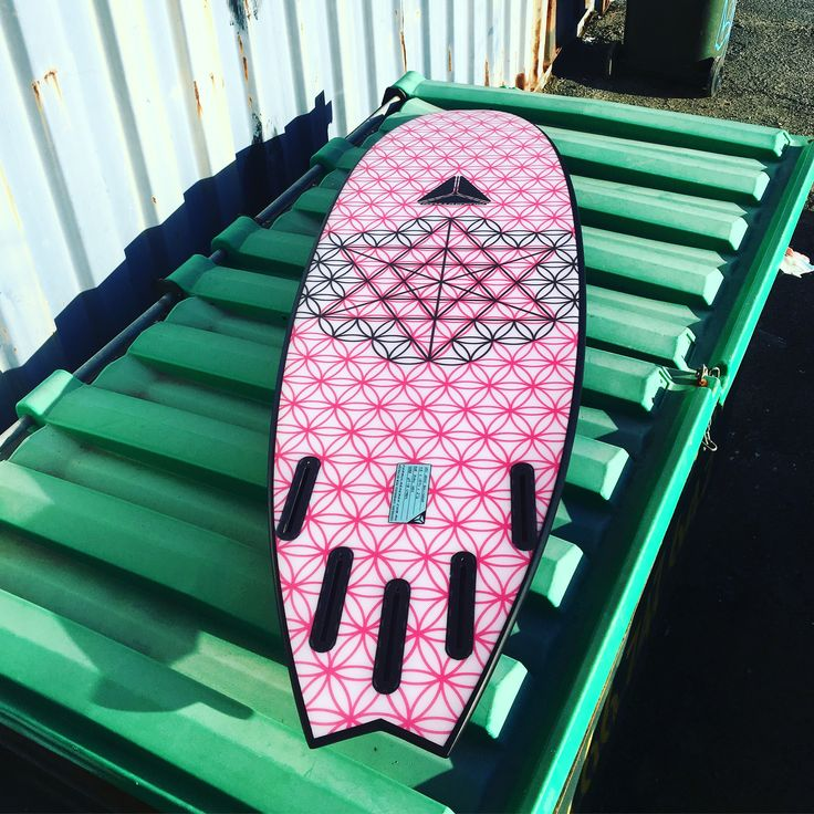 Flower of life sacred geometrical pattern on the bottom of the this Nemo model surfboard by Formula Energy .