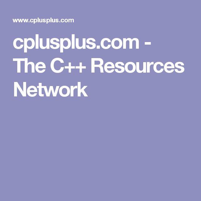 cplusplus.com - The C++ Resources Network
