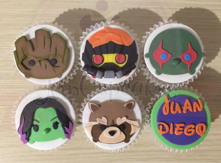Cupcakes guardianes de la galaxia