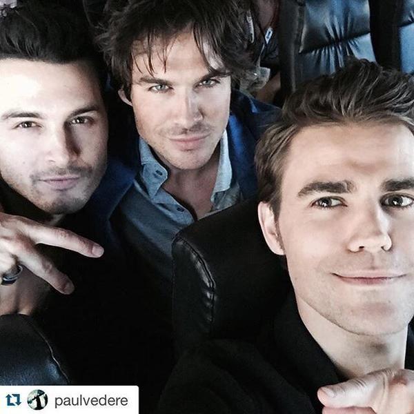 TVD Hotties Michael Malarkey, Ian Somerhalder, and Paul Wesley on way to San Diego ComicCon 2015