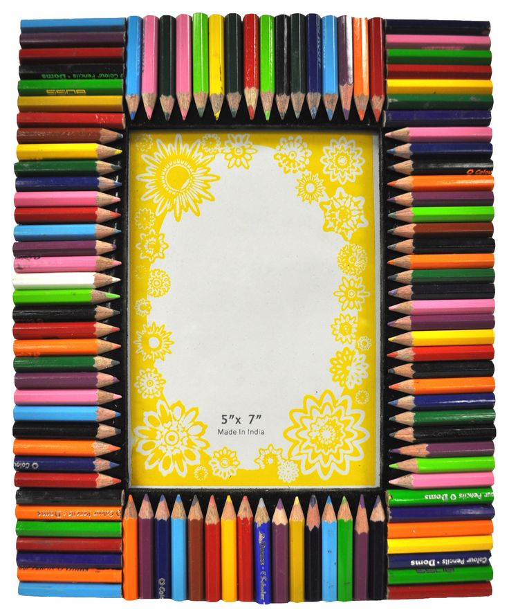 """Features:  -Material: Wood and glass.  Style: -Children's.  Color: -Multi-colored.  Material: -Wood.  Picture Size: -5"""" x 7"""".  Picture Capacity: -1.  Frame Type: -Table top. Dimensions:  Overall Heigh"""