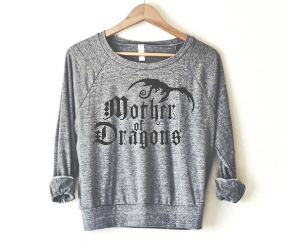 mother of dragons pullover by so effing cute made in usa. Black Bedroom Furniture Sets. Home Design Ideas